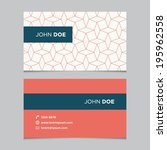 business card template with... | Shutterstock .eps vector #195962558