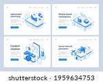 set of blue and white vector... | Shutterstock .eps vector #1959634753