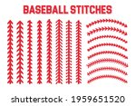 red stitches of baseball stitch ...   Shutterstock .eps vector #1959651520