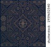 vector linear korean  chinese... | Shutterstock .eps vector #1959652540