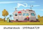 recreational vehicle trailer... | Shutterstock .eps vector #1959664729