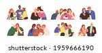 happy and unhappy people... | Shutterstock .eps vector #1959666190