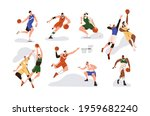 man players playing basketball... | Shutterstock .eps vector #1959682240