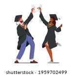 male and female alumnus...   Shutterstock .eps vector #1959702499