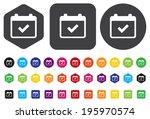 calendar icon | Shutterstock . vector #195970574