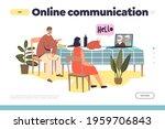 online communication concept of ... | Shutterstock .eps vector #1959706843