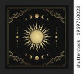 sun and moon phases in... | Shutterstock .eps vector #1959710023