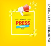 world press freedom day banner... | Shutterstock .eps vector #1959748609