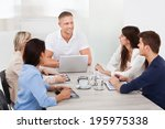 businessman discussing with... | Shutterstock . vector #195975338