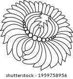 single abstract flower for... | Shutterstock .eps vector #1959758956