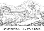 A Dinosaur T Rex Tyrannosaurus...