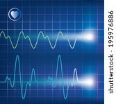 heart beats cardiogram. vector... | Shutterstock .eps vector #195976886
