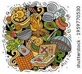 picnic cartoon doodle...   Shutterstock .eps vector #1959770530