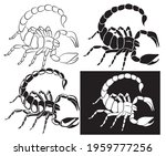 set of graphic scorpion... | Shutterstock .eps vector #1959777256