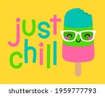 """""""just chill"""" typography design... 