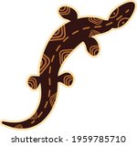 lizard drawing. african and... | Shutterstock .eps vector #1959785710