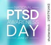 ptsd awareness day is observed...   Shutterstock .eps vector #1959791443