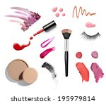 collection of various make up... | Shutterstock . vector #195979814