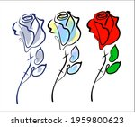 vector handmade fashion digital ... | Shutterstock .eps vector #1959800623