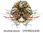 splattered three headed eagle... | Shutterstock .eps vector #1959831640