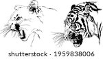 vector drawings sketches... | Shutterstock .eps vector #1959838006