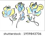 vector handmade fashion digital ... | Shutterstock .eps vector #1959843706
