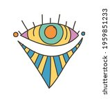colorful eye talisman as an... | Shutterstock .eps vector #1959851233