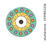colorful eye talisman as an... | Shutterstock .eps vector #1959851236