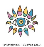 colorful eye talisman as an... | Shutterstock .eps vector #1959851260