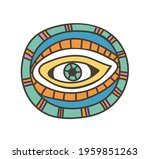 colorful eye talisman as an... | Shutterstock .eps vector #1959851263