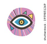 colorful eye talisman as an... | Shutterstock .eps vector #1959851269