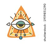 eye talisman as an occultism... | Shutterstock .eps vector #1959851290
