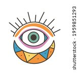 colorful eye talisman as an... | Shutterstock .eps vector #1959851293