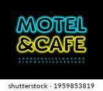 vector bright logo motel and... | Shutterstock .eps vector #1959853819