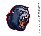 angry kong head cartoon... | Shutterstock .eps vector #1959868096