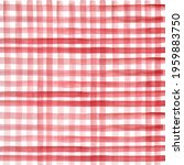 Red Watercolor Checkered...