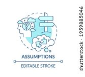 assumptions blue concept icon.... | Shutterstock .eps vector #1959885046