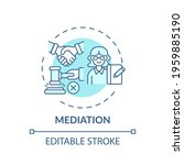 mediation concept icon. legal... | Shutterstock .eps vector #1959885190