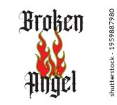 broken angel slogan print with... | Shutterstock .eps vector #1959887980