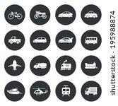 transport circle icons...