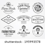 bakery vector badges for any use | Shutterstock .eps vector #195993578