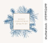holiday card with square frame. ... | Shutterstock .eps vector #1959952699