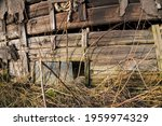 Close Up Of Abandoned Rustic...