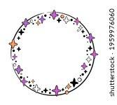 round festive frame with stars | Shutterstock .eps vector #1959976060