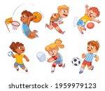 team sport. volleyball ... | Shutterstock .eps vector #1959979123