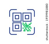 qr code scanning. qr code... | Shutterstock .eps vector #1959981880