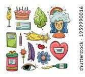 hand drawn vector of doodle... | Shutterstock .eps vector #1959990016