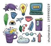 hand drawn vector of doodle... | Shutterstock .eps vector #1959990019