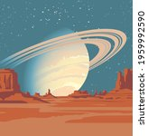 a fantastic alien landscape... | Shutterstock .eps vector #1959992590