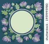 summer flowers in flat style  ... | Shutterstock .eps vector #1959995980